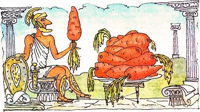 история моркови в европе