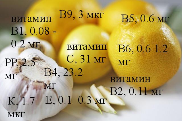 витамины чеснока