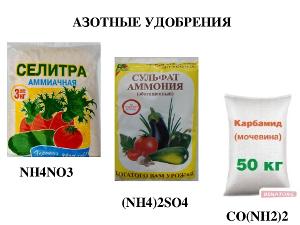 Подкормка огурцов азотом